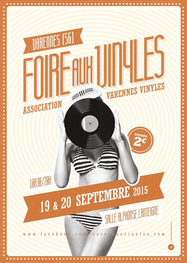 Affiche brocante Foire aux Vinyles