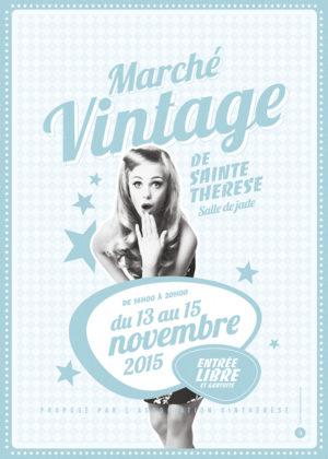 Affiche Brocante Marché vintage