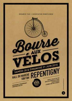 Affiche kraft - Bourse aux vélos